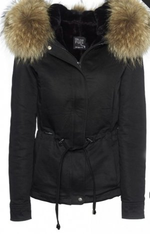 We Love Furs Fur Jacket black
