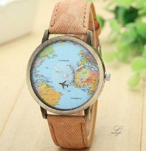 Reloj analógico color bronce-marrón claro