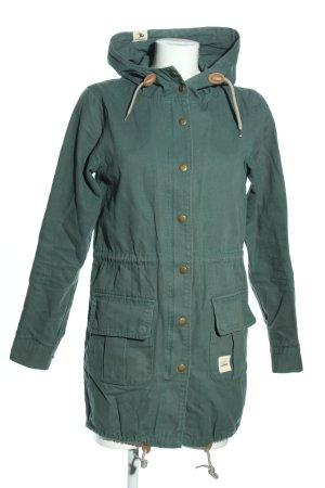 Wemoto Lange Jacke grün Casual-Look