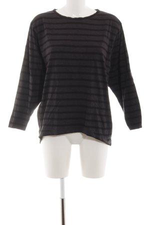 Wemoto Oversized Shirt hellgrau-schwarz Streifenmuster Casual-Look