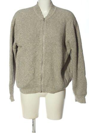 Wemoto Giacca in maglia grigio chiaro puntinato stile casual