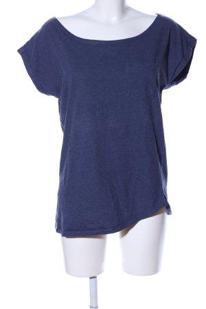 Wemoto T-Shirt blau meliert Casual-Look