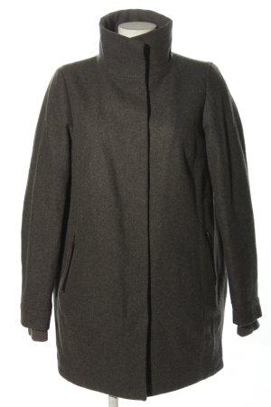 Wemoto Wool Coat light grey flecked casual look