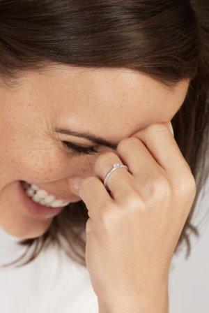 WEMPE Verlobungsring aus Weißgold mit Brilliant