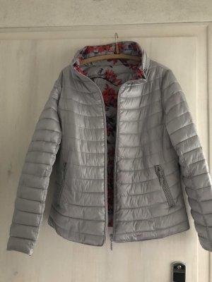 Dwustronna kurtka srebrny-czerwony