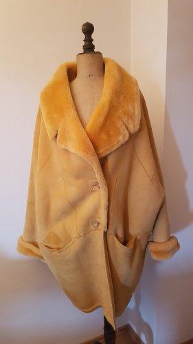 ileana zara Fake Fur Jacket sand brown