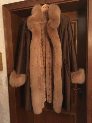 Abrigo de piel marrón arena-coñac Pelaje