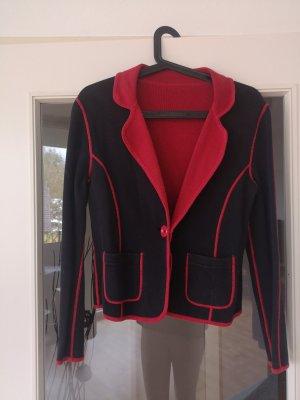 Betty Barclay Knitted Blazer black-brick red