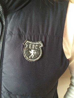 Reversible Jacket brick red-dark blue nylon
