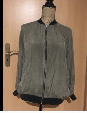H&M Blusón negro-gris verdoso