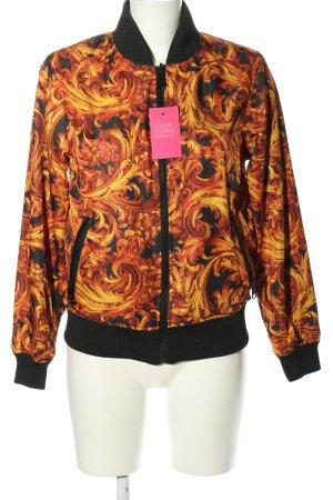 Reversible Jacket light orange-black allover print casual look