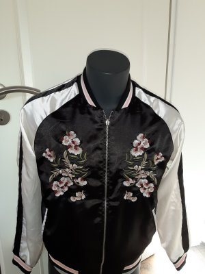 Only Giacca bomber nero-rosa antico