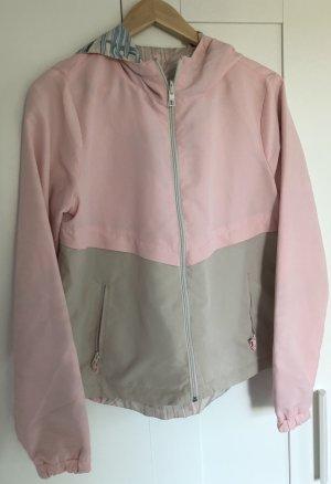 Only Chaqueta reversible beige-rosa Poliéster