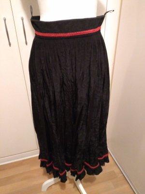 Wendelstein Dirndl Tradycyjna spódnica czarny-czerwony