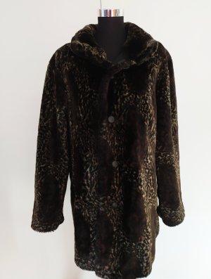 Manteau en fausse fourrure multicolore