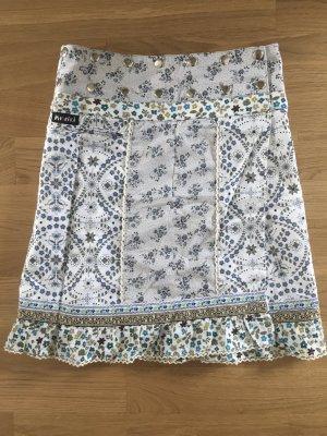 Moshiki Jupe portefeuille multicolore coton