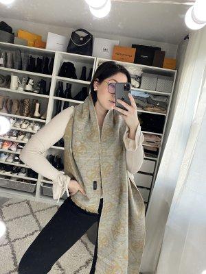 Guess Écharpe en tricot gris clair-beige
