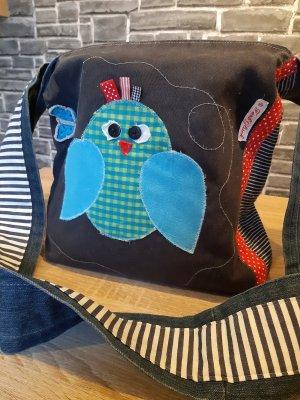 Dwustronna torebka szary-niebieski