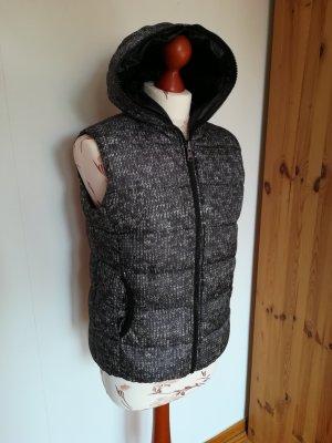 C&A Clockhouse Hooded Vest black-grey