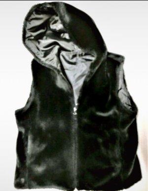 Fake Fur Vest black