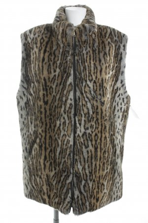 Reversible Vest leopard pattern casual look