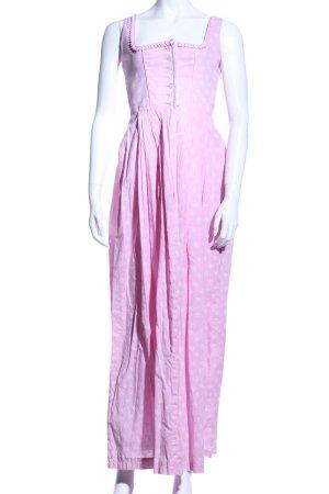 Wenger Austrian Style Dirndl pink-weiß Motivdruck Elegant