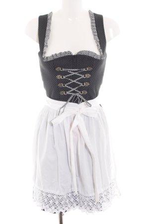 Wenger Austrian Style Dirndl schwarz-weiß Karomuster Elegant