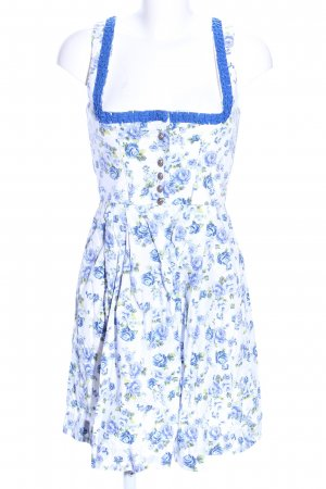 Wenger Austrian Style Dirndl white-blue allover print casual look