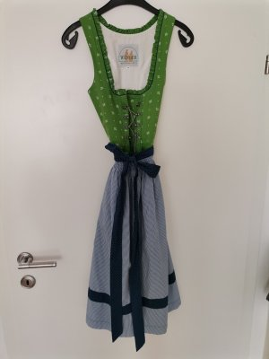 Wenger Dirndl green-blue cotton
