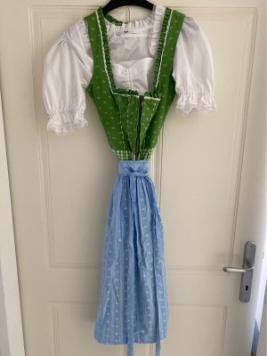 Wenger Dirndl grass green-cornflower blue