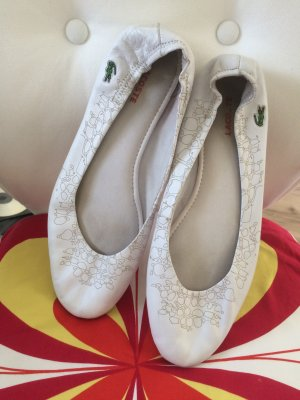 Lacoste Mary Jane Ballerinas white leather
