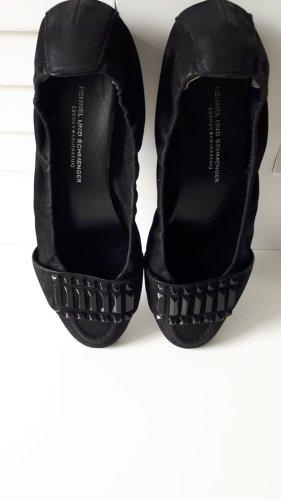 Wenig getragene Raulederballerina schwarz