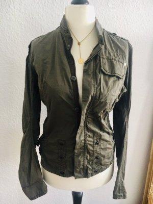 Weniger als 30% vom VK: G-STAR Jacke tailliert, Blusenjacke, Bluse, Army-Style, Sommerjacke, leichte Jacke, Gr 38,