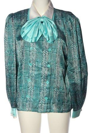 Werner Graumann Blouse à manches longues turquoise motif à carreaux élégant