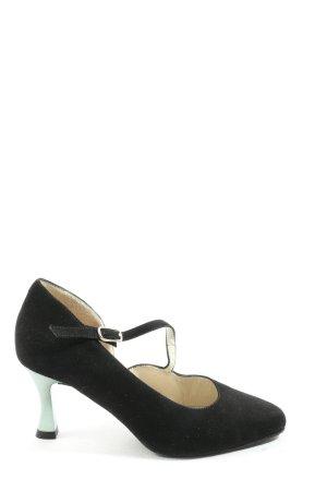 Werner Kern Tacones Mary Jane negro-color plata elegante