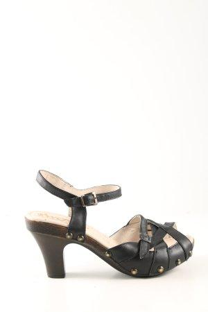 Sandalias de tiras negro look casual