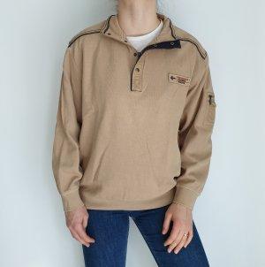 Werther Beige L Cardigan Strickjacke Oversize Pullover Hoodie Pulli Sweater Top True Vintage
