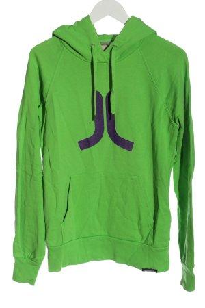 Wesc Hooded Sweatshirt green themed print casual look