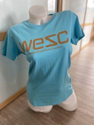 Wesc T-Shirt light blue-turquoise