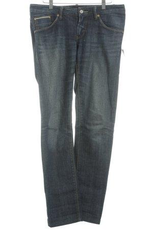 Wesc Dopasowane jeansy ciemnoniebieski-jasnobeżowy W stylu casual
