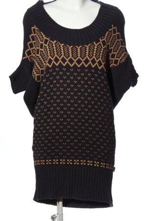 Wesc Sukienka z dzianiny czarny-jasny pomarańczowy Graficzny wzór
