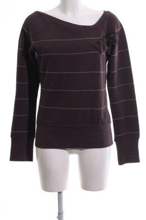 Wesc Sweatshirt braun-wollweiß Streifenmuster Casual-Look