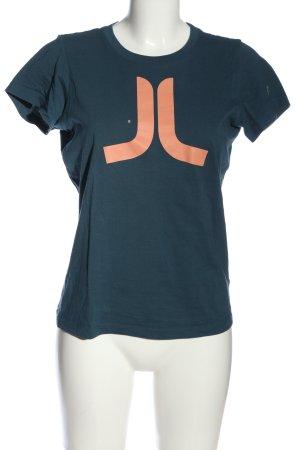 Wesc T-shirt niebieski-nude Nadruk z motywem W stylu casual