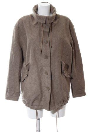 Wesc Wełniany sweter szaro-brązowy Aplikacja z logo