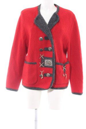 Wesenjak Folkloristische jas rood-zwart zakelijke stijl