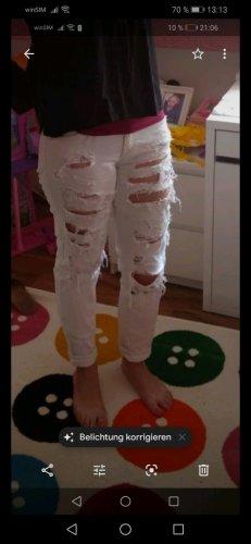 Pantalón deportivo blanco tejido mezclado