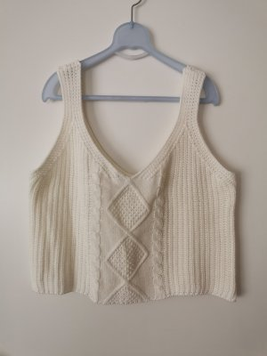 Fine Knitted Cardigan natural white