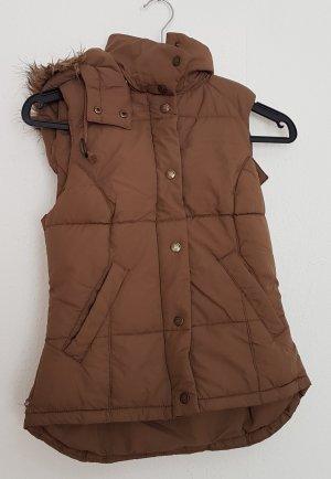 H&M Capuchon vest lichtbruin-bruin