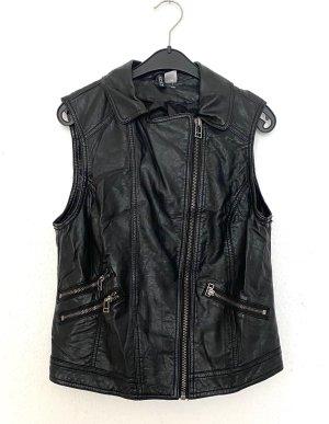 H&M Gilet da motociclista nero