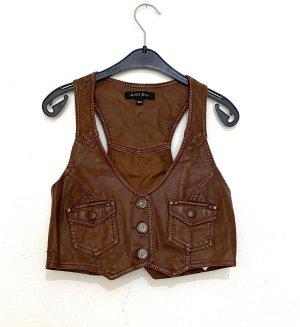 Amisu Leather Vest multicolored
